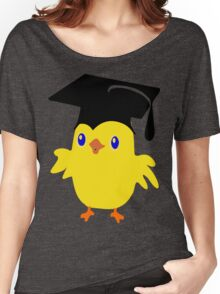 ღ°ټGorgeous Blue Eyed Nerd Chick on a Graduation Cap Clothing& Stickersټღ° Women's Relaxed Fit T-Shirt