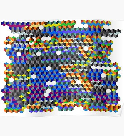 Q Cubes Poster