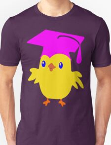 ღ°ټGorgeous Blue Eyed Nerd Chick on a Graduation Cap Clothing& Stickersټღ° T-Shirt