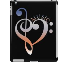 Music Expresses Clef Heart Girls funny nerd geek geeky iPad Case/Skin