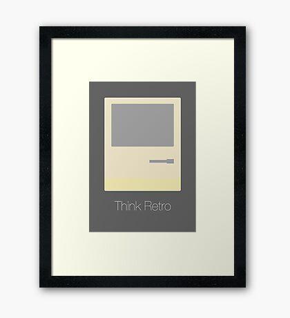 Think Retro Framed Print