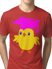 ღ°ټGorgeous Blue Eyed Nerd Chick on a Graduation Cap Clothing& Stickersټღ° Tri-blend T-Shirt
