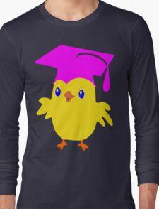 ღ°ټGorgeous Blue Eyed Nerd Chick on a Graduation Cap Clothing& Stickersټღ° Long Sleeve T-Shirt