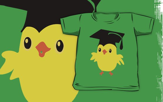 ღ°ټAdorable Nerd Chick on a Graduation Cap Clothing& Stickersټღ° by Fantabulous