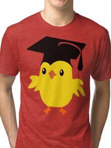 ღ°ټAdorable Nerd Chick on a Graduation Cap Clothing& Stickersټღ° Tri-blend T-Shirt