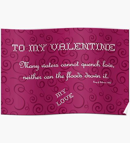 To My Valentine Poster