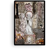 The Two Towers Dada Doll Canvas Print
