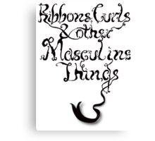 Ribbons & Curls Canvas Print