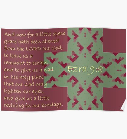 Grace hath been shewed from the Lord our God. . . Poster