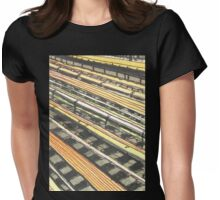 subway tracks Womens Fitted T-Shirt