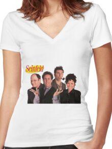 Seinfeld Cast Women's Fitted V-Neck T-Shirt