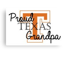 Proud Texas Grandpa 2 Canvas Print
