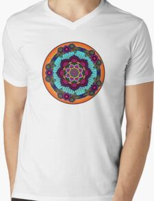Colorful Mandala Mens V-Neck T-Shirt