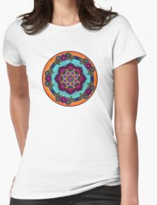Colorful Mandala Womens Fitted T-Shirt