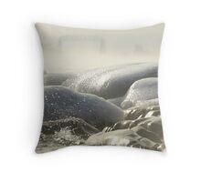 Lake Superior Winter Throw Pillow