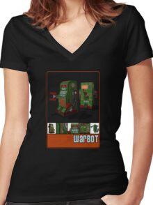 Tin Clockwork War Bot Destroy Humans Women's Fitted V-Neck T-Shirt