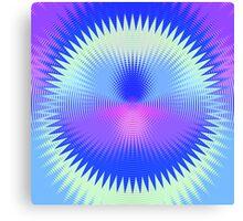 Twenty-Five Past Concentric Waves Canvas Print