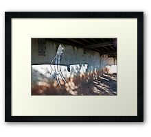 Waist deep. . . he waded  bravely into the light Framed Print