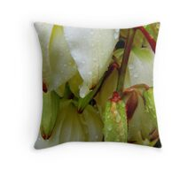 Francie's Flowering Yucca... Throw Pillow