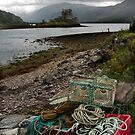 Fishing boxes near Eilean Donan by Richard Flint