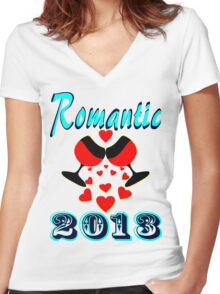 °•Ƹ̵̡Ӝ̵̨̄Ʒ♥Romantic 2013 Splendiferous Clothing & Stickers♥Ƹ̵̡Ӝ̵̨̄Ʒ•° Women's Fitted V-Neck T-Shirt
