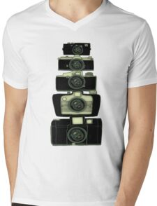 Towering cameras  Mens V-Neck T-Shirt