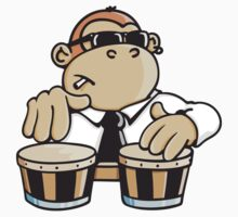 The cool monkey plays the bongos by chrisbears