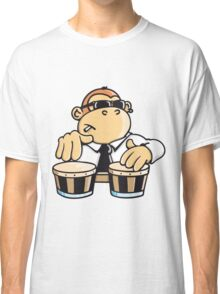 The cool monkey plays the bongos Classic T-Shirt