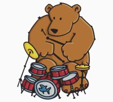The bear plays drums by chrisbears