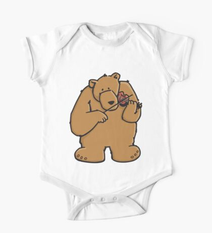 The bear plays violin One Piece - Short Sleeve