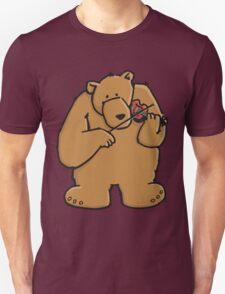 The bear plays violin Unisex T-Shirt