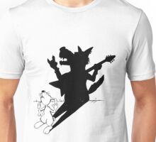 The rabbit plays air guitar Unisex T-Shirt