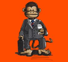 The Business Monkey drinks a coffee to go Kids Tee