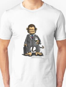 The Business Monkey drinks a coffee to go Unisex T-Shirt