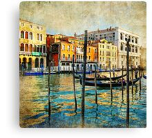 Oil painting of Venice Canvas Print
