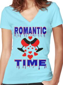 °•Ƹ̵̡Ӝ̵̨̄Ʒ♥Romantic Time Splendiferous Clothing & Stickers♥Ƹ̵̡Ӝ̵̨̄Ʒ•° Women's Fitted V-Neck T-Shirt
