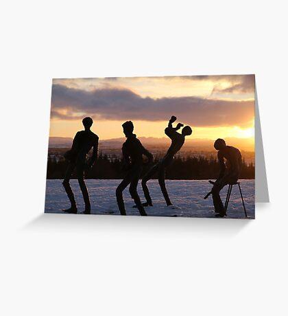 Frozen Sculptures Greeting Card