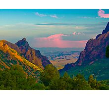 Chisos Mountains - Big Bend National Park Photographic Print