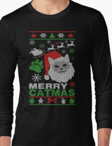 Merry Catmas Ugly Christmas Long Sleeve T-Shirt