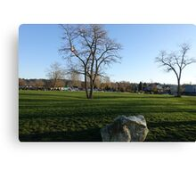Park at Crescent Beach in White Rock, BC. Canvas Print