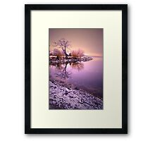 Winter Light Reflected Framed Print
