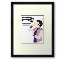 Open-minded as Helllll Framed Print