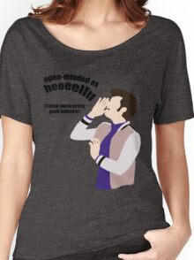 Open-minded as Helllll Women's Relaxed Fit T-Shirt