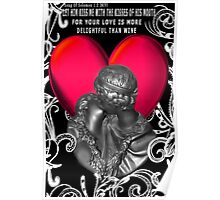 *•.¸♥♥¸.•*KISSES SWEETER THAN WINE (BIBLICAL) VALENTINE Poster
