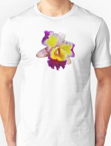 Yellow and Magenta Cattleya Orchid T-Shirt