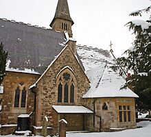 St Mary's Chuch Ide Hill Kent covered in snow by Keith Larby