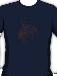 Vintage Illustration Bucking Horse Cowboy T-Shirt
