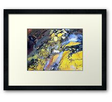 Right To The Edge (Brecciated Agate) Framed Print