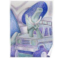Shades Of Blue Still Life Poster