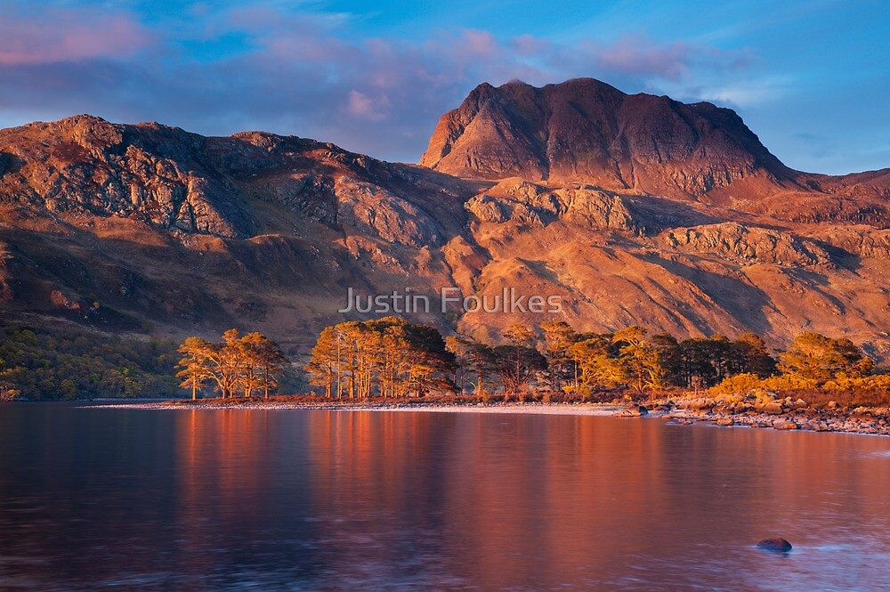 Slioch from Loch Maree, Scotland. by Justin Foulkes